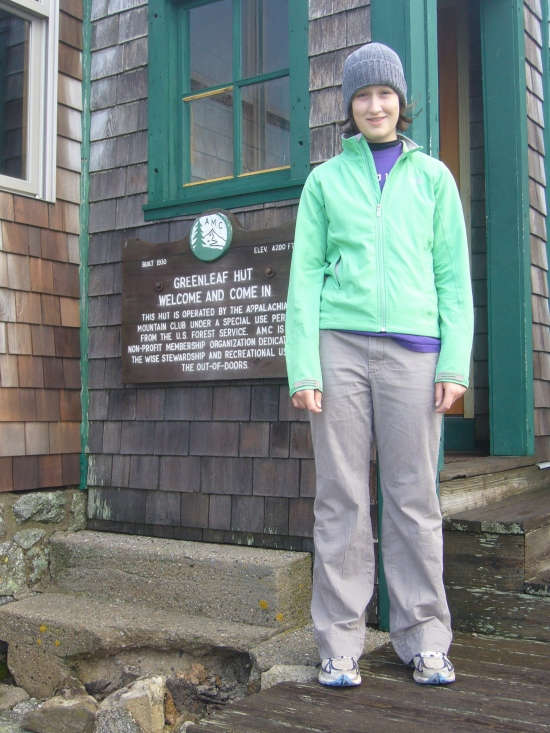 Madeleine at Greenleaf Hut