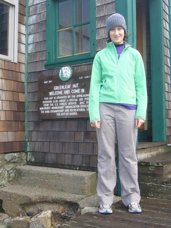 Madeleine at Greenleaf Hut
