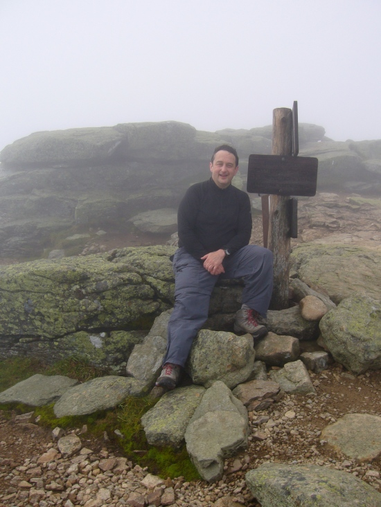Leonard at the summit of Mt. Lafayette.